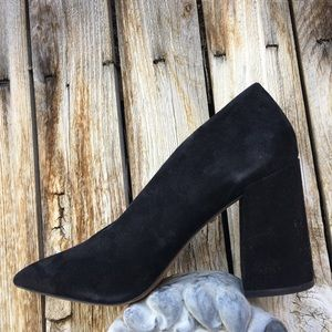 NWOB Topshop Grove V Cut Pump Suede Black 38